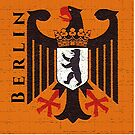 Berlin Coat of Arms on German Eagle 1956 by edsimoneit
