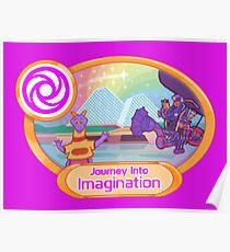 Reise in Fantasie-Pixel-Kunst-Shirt Poster