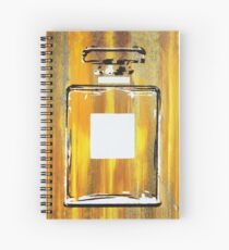 Yellow 5 Perfume Bottle Spiral Notebook