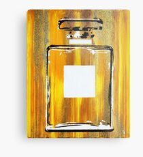 Yellow 5 Perfume Bottle Metal Print