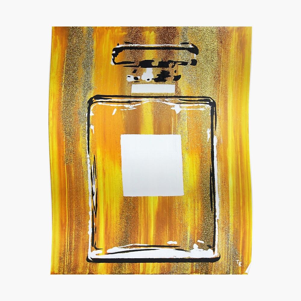 Yellow 5 Perfume Bottle Poster