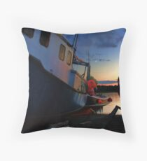 Evening at Fisherman's Cove Throw Pillow