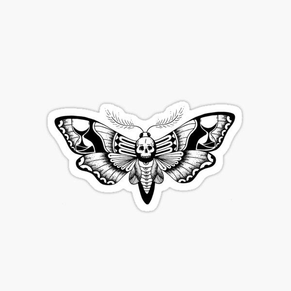 Hourglass Deathmoth Sticker
