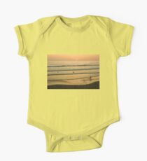 Californian Gold - Sunset, Beach, Waves and Surfers - Oh So California One Piece - Short Sleeve