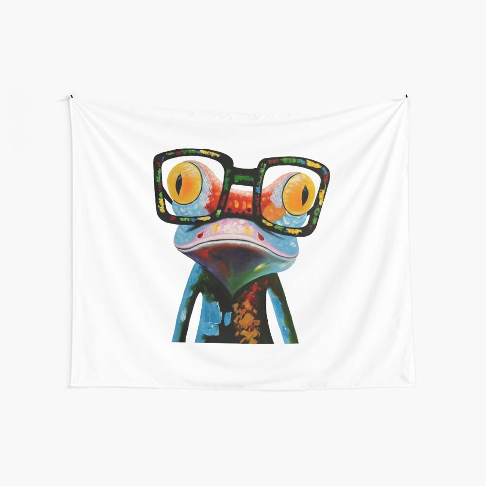 Hipster Frog Nerd Glasses Tela decorativa