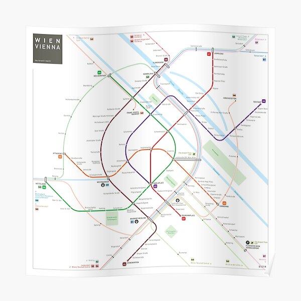 Vienna Metro Map Poster