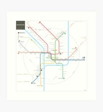 Lámina artística Mapa del metro de Washington