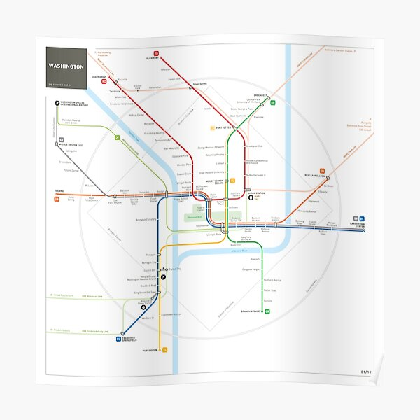 Washington Metro Map Poster
