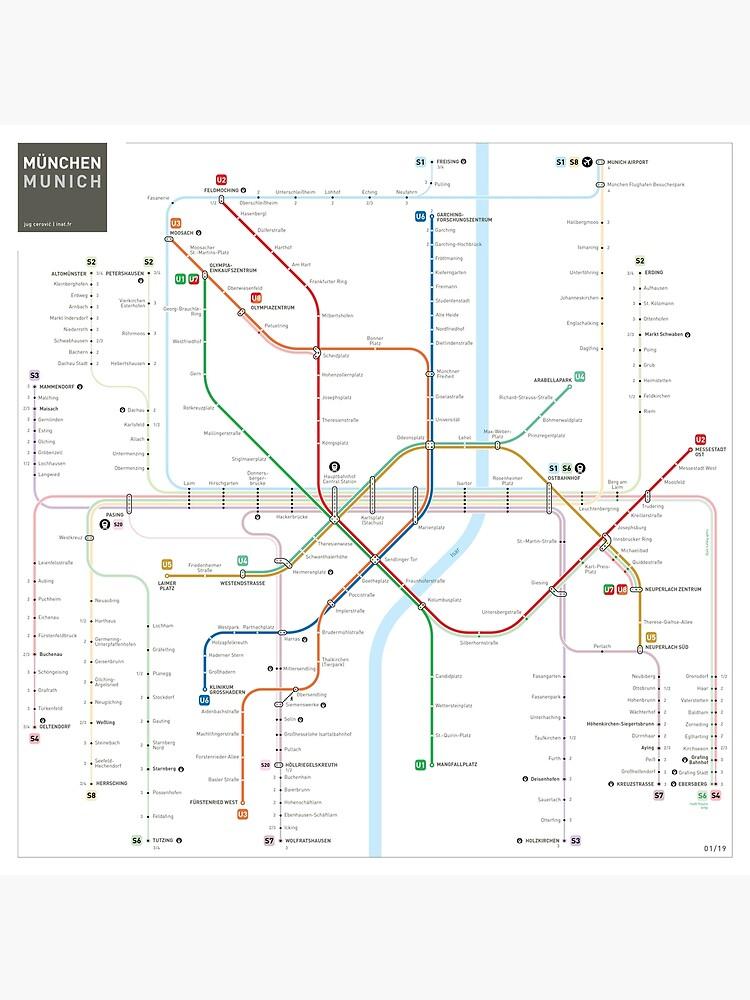 Munich Metro Map by jugcerovic