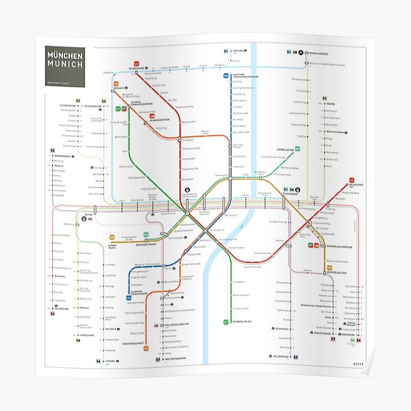 Munich Metro Map Poster