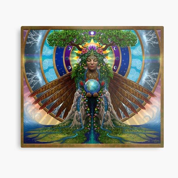 Gaia: Sacred System Metal Print