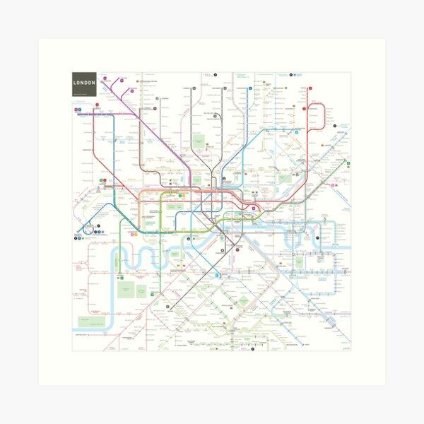 London tube map Art Print