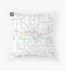 Dc Subway Map Pillow.Metro Map Pillows Cushions Redbubble