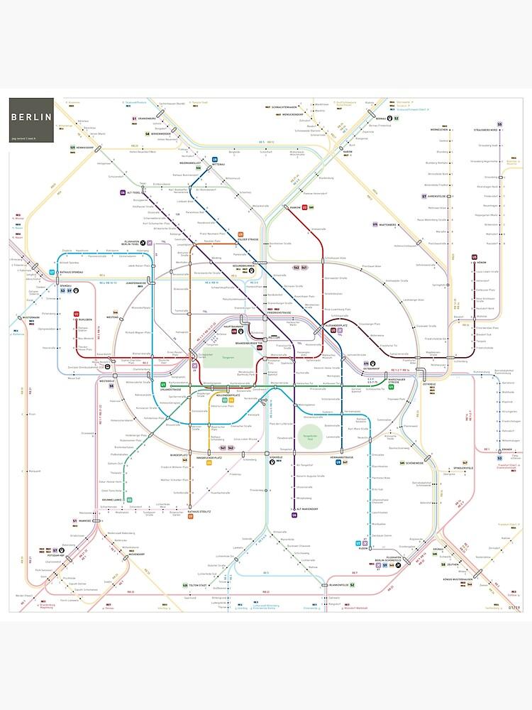 Berlin U-Bahn S-Bahn map by jugcerovic