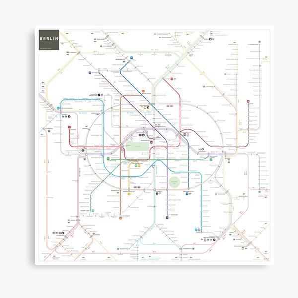 Berlin U-Bahn S-Bahn map Metal Print