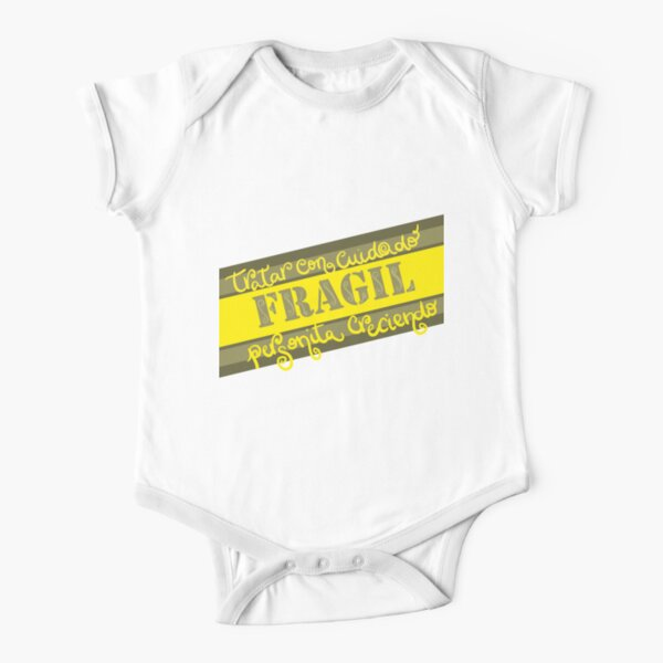 Fragil - Little Person Growing Short Sleeve Baby One-Piece