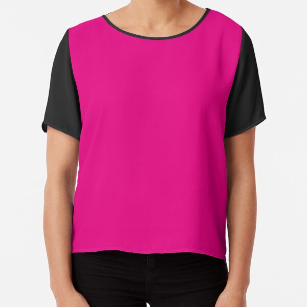 Hot Pink | Solid Color |  Chiffon Top