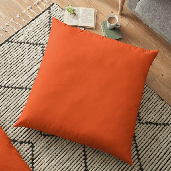 Burnt Orange   Solid Color    Floor Pillow