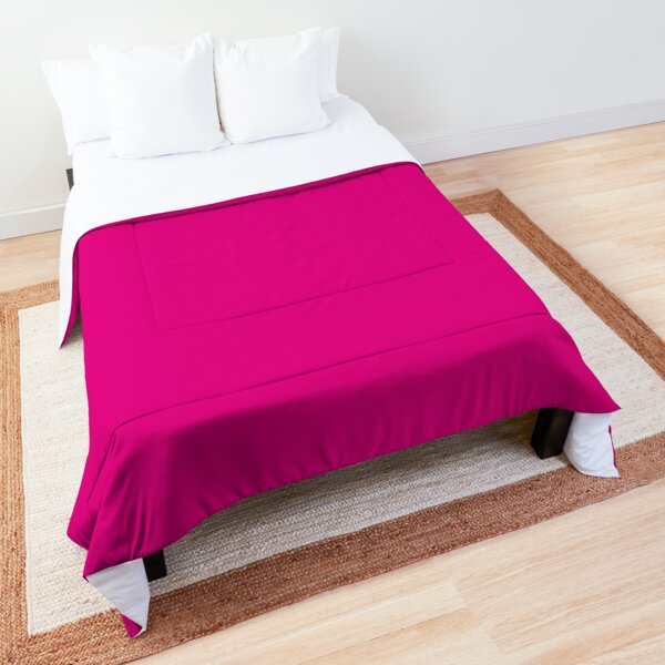 Hot Pink | Solid Color |  Comforter