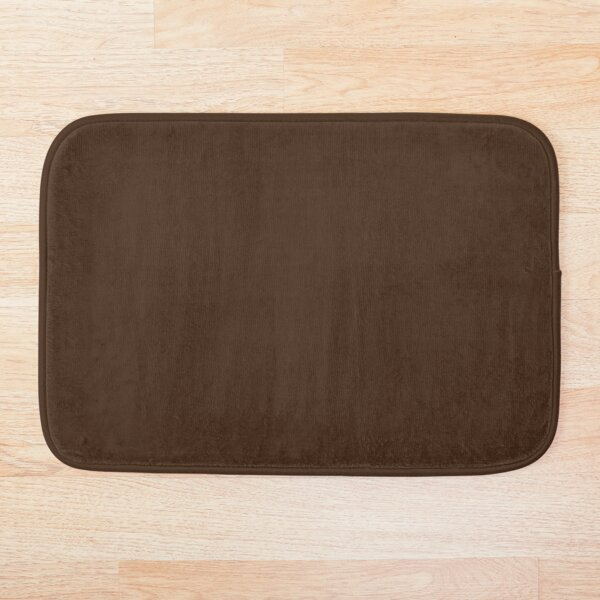 Chocolate Brown | Solid Color |  Bath Mat