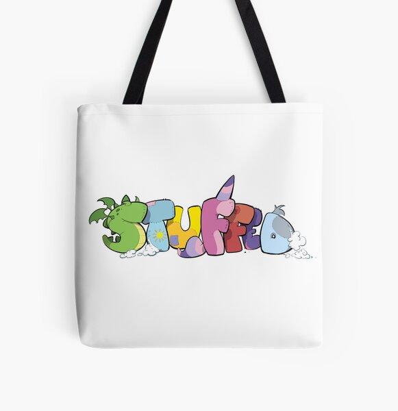 Stuffed Logo All Over Print Tote Bag