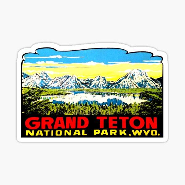 Grand Teton National Park Round Sticker Auto Decal Car Truck RV Window Travel