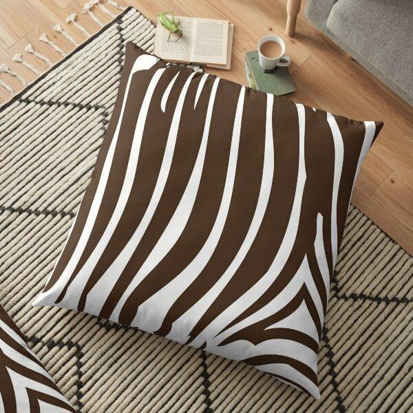 Zebra Stripes   Zebra Print   Animal Print   Chocolate Brown and White   Stripe Patterns   Striped Patterns   Floor Pillow