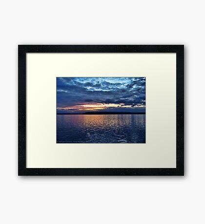 Puget Sound Sunset Framed Print