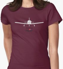 I learned to fly in a Piper Womens Fitted T-Shirt
