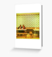 together at dinner Greeting Card