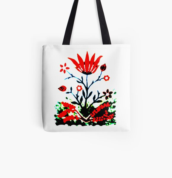Forest Fire Flower All Over Print Tote Bag