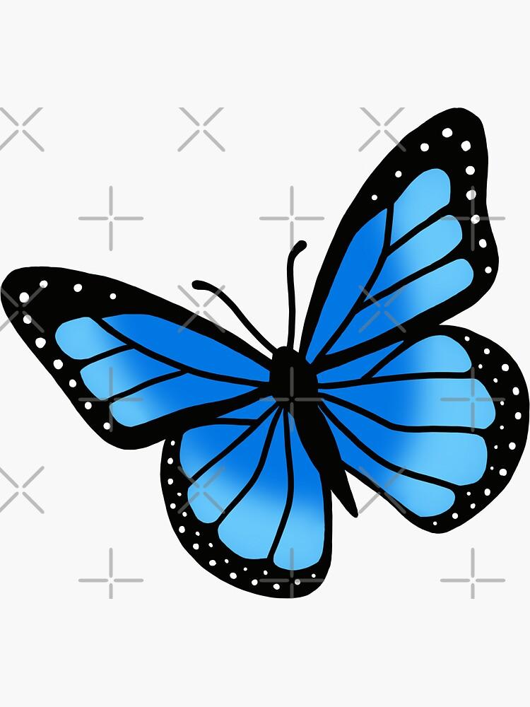 Blue Butterfly by littlemandyart