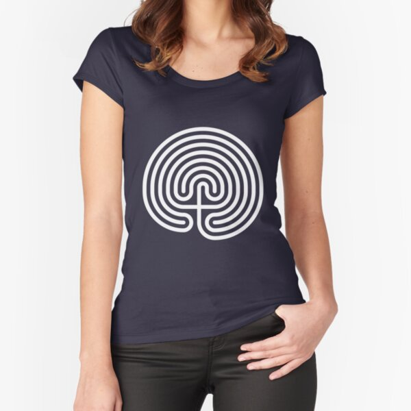 Cretan Labyrinth Fitted Scoop T-Shirt