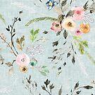 La Boheme Sky Blue Floral  by Esther  Fallon Lau