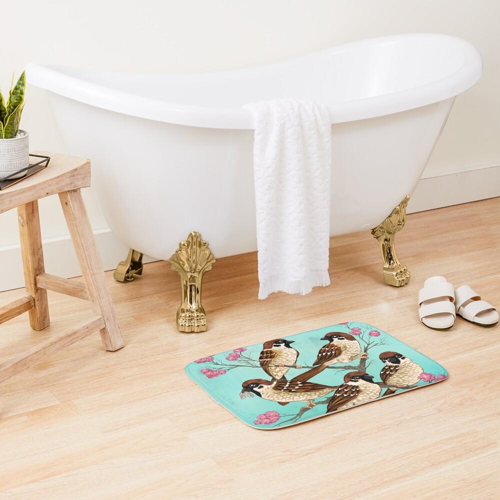Sakura Sparrows Bath Mat
