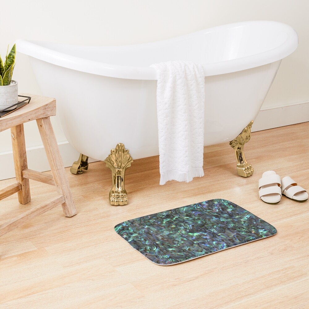 Abalone Shell | Paua Shell | Seashell Patterns | Sea Shells | Natural |  Bath Mat