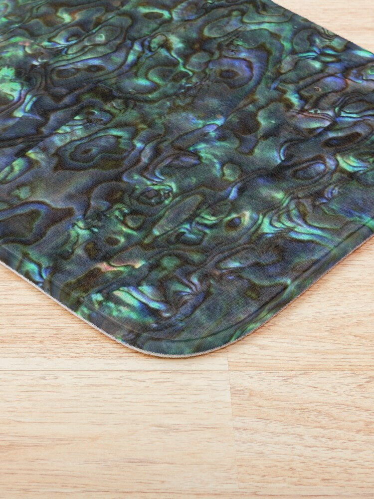 Alternate view of Abalone Shell | Paua Shell | Seashell Patterns | Sea Shells | Natural |  Bath Mat