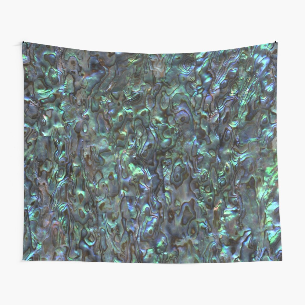 Abalone Shell | Paua Shell | Seashell Patterns | Sea Shells | Natural |  Wall Tapestry