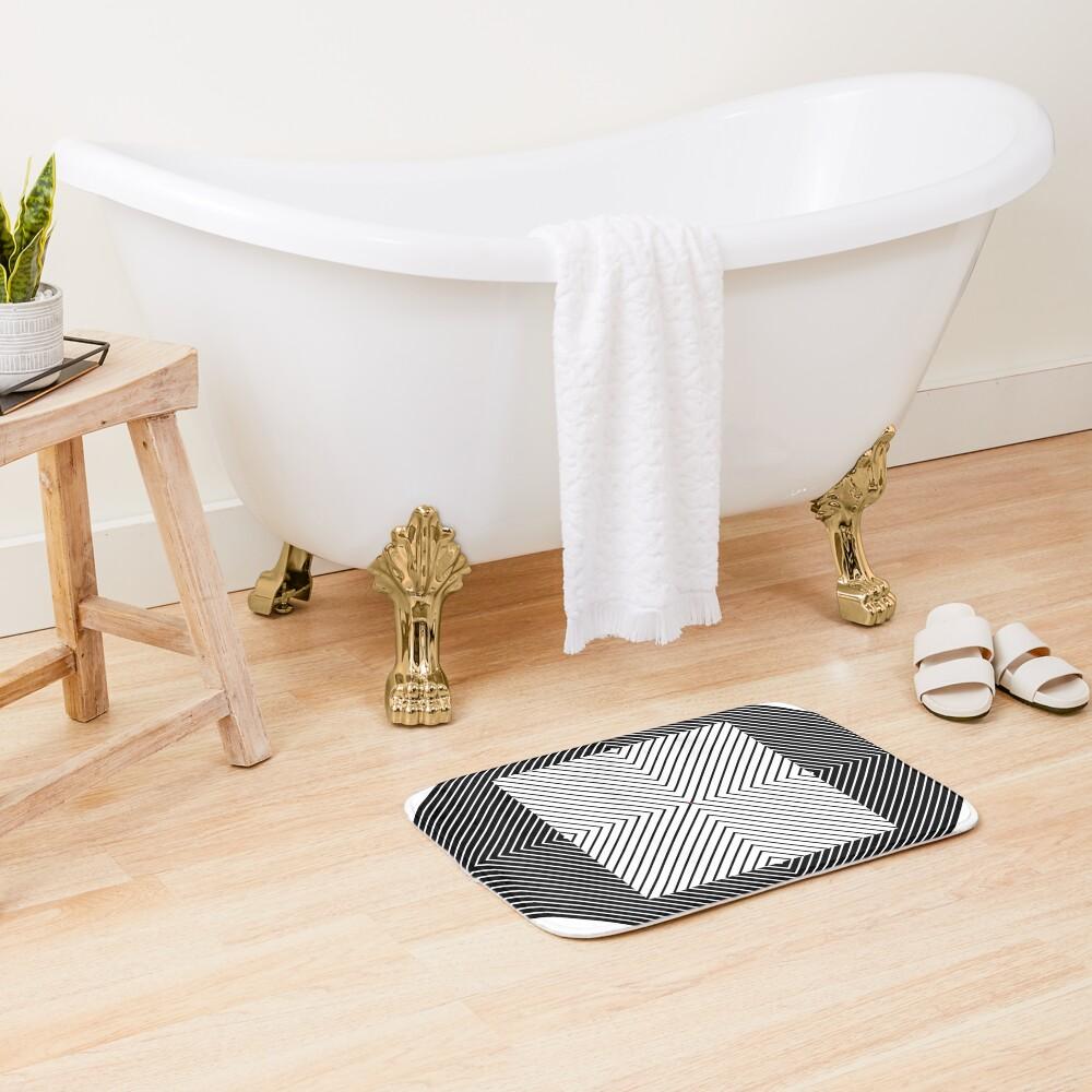 #Design, #Pattern, #Fashion, #Decoration, Abstract, Shape, Art, illustration, Triangle, 2D Shape Bath Mat