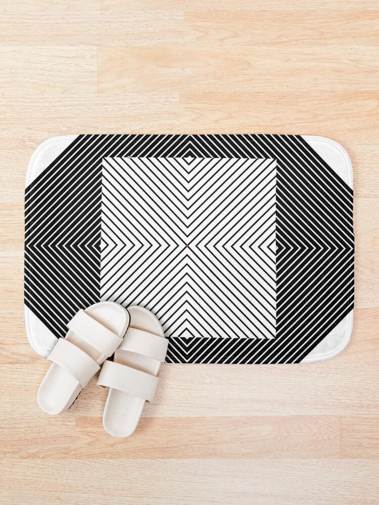 Alternate view of #Design, #Pattern, #Fashion, #Decoration, Abstract, Shape, Art, illustration, Triangle, 2D Shape Bath Mat