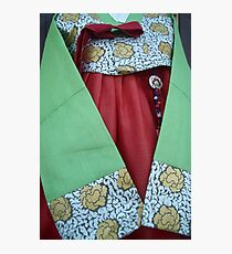 Korean Hanbok Traditional Dress Photographic Print