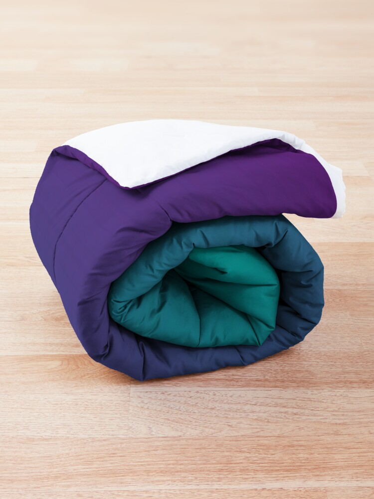 Alternate view of Ombre | Gradient Colors | Teal and Purple |  Comforter