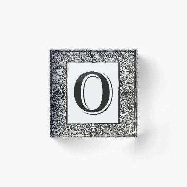 Vintage Monogram | Letter O |  Acrylic Block