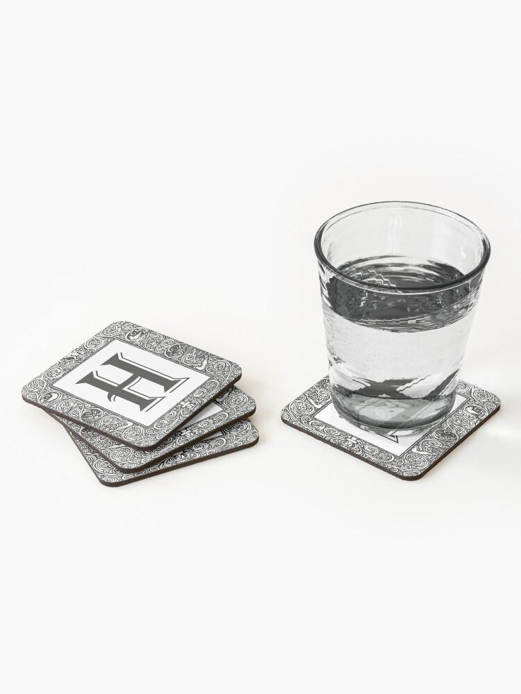 Alternate view of Vintage Monogram | Letter H |  Coasters (Set of 4)