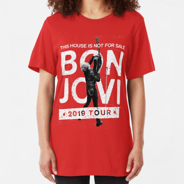 JON BON JOVI THIS House Is Not For Sale 2019 BlacK T SHIRT BACK AND FRONT PRINT