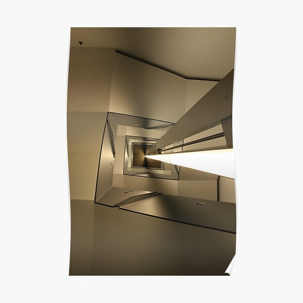 Stair Abstract, ICA Museum, Boston Poster
