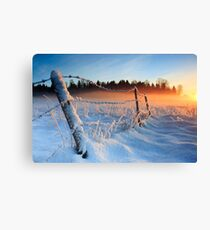 Warm cold winter sunset, Eesti looduskalender maastik Canvas Print