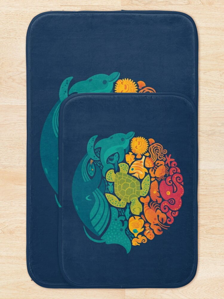 Alternate view of Aquatic Rainbow Bath Mat