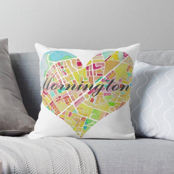 Mornington - Love your town Throw Pillow