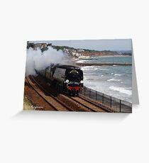 Southern Railway 34067 'Tangmere' at Dawlish Greeting Card